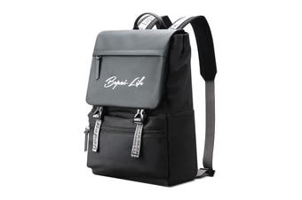 """BOPAI Fashion Style Waterproof Microfibre Outdoor Sporty Backpack Easy Daypack 15.6"""" Laptop Backpack B1511 Black"""