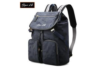 """BOPAI Fashion Style Waterproof Microfibre Outdoor Sporty Backpack Easy Daypack with USB Charging 15.6"""" Smart Laptop Backpack B1812 Camouflage"""