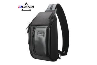 BOPAI Luxury Style Waterproof Leather & Microfibre Chest Bag Cross Shoulder Bag B5911