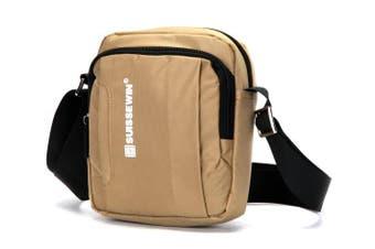 Swiss waterproof Bag Travel Message Bag Daily iPad shoulder Bag SN5050V Brown