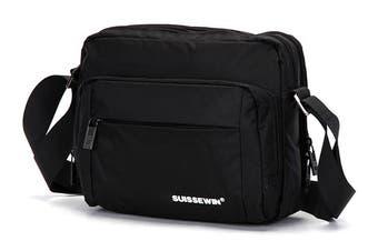 Swiss waterproof Bag Travel Message Bag Daily iPad shoulder Bag SN5051V Black