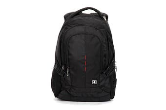 "SUISSEWIN Swiss waterproof 15.6"" laptop  Backpack School backpack  Travel Shoulder Bag SN9617 Black"