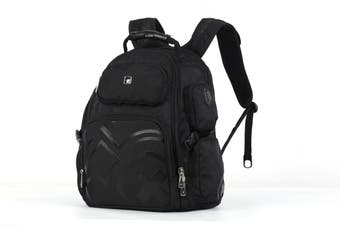 "Swisswin Swiss waterproof 15.6"" laptop Backpack School backpack Travel Backpack SW09810 Black"