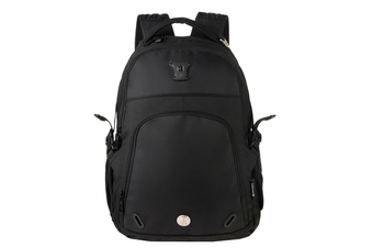 "Swisswin Swiss waterproof 15.6"" laptop Backpack School backpack Travel Backpack SW9017-Black"