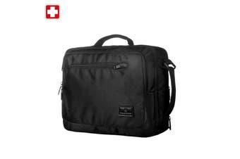 "Swisswin Swiss waterproof 15.6"" laptop Bag School bag Travel Briefcase with backpack SWE1018 Black"