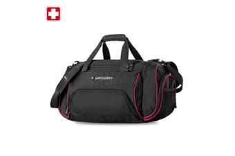 Swiss waterproof Gym Sport Crossbody Travel Duffel Bag SWE1031 Black