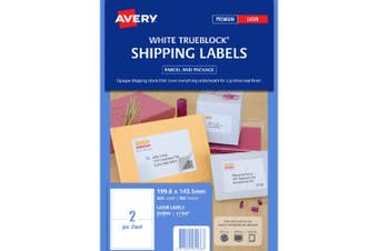 AVERY LABEL AVERY LASER L7980 SHIPPING 2 IN 1 LABELS & NOTES 20'S