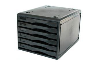 METRO 3439 MULTI DRAWER STORAGE SYSTEM B4 6 DRAWER BLACK