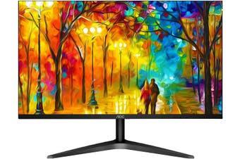 "AOC 27"" IPS 9ms Full HD 3-Way Frameless Slim Monitor - HDMI1.4/VGA Tilt Low Blue"