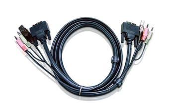 Aten 2L7D03U KVM cable 3 m Black