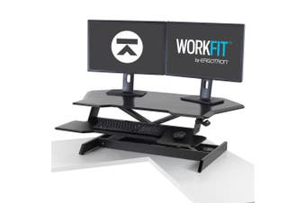 Ergotron WorkFit computer desk Black