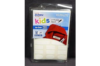 AVERY LABELS AVERY KIDS NO-IRON CLIPSTRIP PK12 ( EACH )