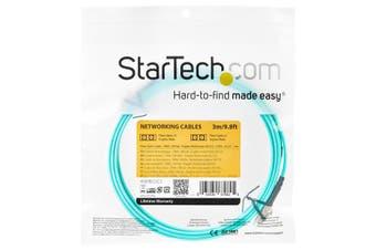 StarTech.com Aqua OM4 Duplex Multimode Fiber Optic Cable - 100 Gb - 50/125 -
