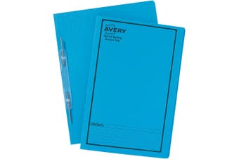 AVERY SPIRAL SPRING ACTION FILE FOOLSCAP BLUE