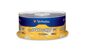 Verbatim DVD+RW 4.7GB 4X Branded 30pk Spindle 30 pc(s)