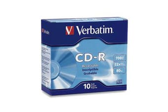 Verbatim CD-R 80MIN 700MB 52X Branded 10pk Slim Case 10 pc(s)