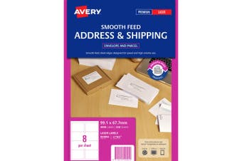 AVERY 959094 TRUEBLOCK PARCEL LABEL L7165 PACK 250