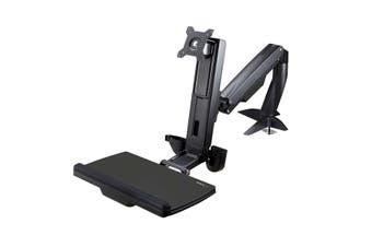 StarTech.com Sit Stand Monitor Arm - Desk Mount Adjustable Sit-Stand Workstation