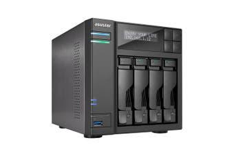 Asustor AS6404T NAS/storage server J3455 Ethernet LAN Black