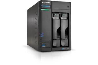 Asustor AS6602T NAS/storage server J4125 Ethernet LAN Tower Black