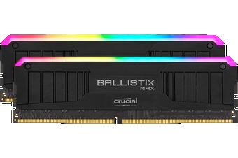Crucial Ballistix MAX RGB 32GB (2x16GB) DDR4 UDIMM 4000MHz CL18 Black Aluminum