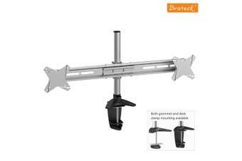 Brateck Elegant Dual Vertical LCD Monitor Table Stand w/Arm & Desk Clamp VESA