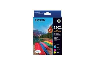 New Epson 220XL Capacity Four Colour Value Pack Durabrite Ultra Ink Cartridges