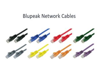 BLUPEAK 50CM CAT6 UTP LAN CABLE - BLUE (LIFETIME WARRANTY)