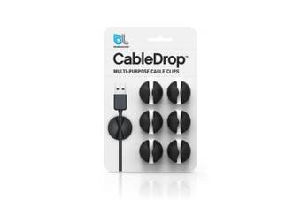 Bluelounge CableDrop cable clamp Black 6 pc(s)