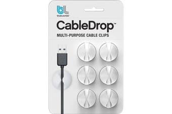 Bluelounge CableDrop cable clamp White 6 pc(s)