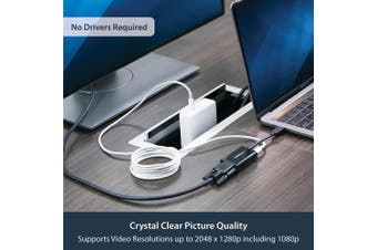 StarTech.com USB C to VGA Adapter with Power Delivery - 1080p USB Type-C to VGA