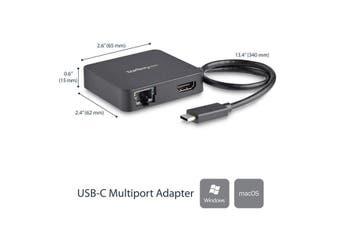 StarTech.com USB C Multiport Adapter - Portable USB-C Mini Dock 4K HDMI Video -