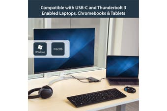 StarTech.com USB C Multiport Adapter - Portable USB-C Dock to 4K HDMI, 2-pt USB