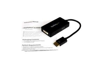 StarTech.com Travel A/V adapter: 3-in-1 DisplayPort to VGA DVI or HDMI converter