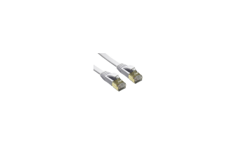Edimax 20m White 10GbE Shielded CAT7 Network Cable - Flat