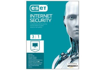 Eset Internet Security for 3 Devices 1 Year (OEM Retail Card - Single)