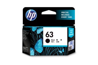 New HP 63 Black Original Inkjet Printer Ink Cartridge