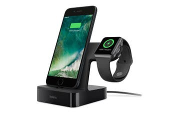 BELKIN CHARGE DOCK FOR APPLE WATCH + IPHONE-BLK