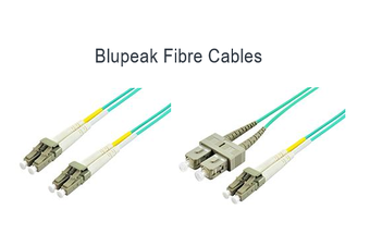 BLUPEAK 1M FIBRE PATCH CABLE MULTIMODE LC TO LC OM3 (LIFETIME WARRANTY)