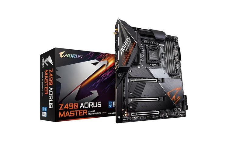 Gigabyte Z490 AORUS MASTER Intel ATX Motherboard 4xDDR4 3xPCIe 3xM.2 RAID 10th