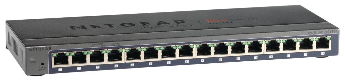 New Netgear GS116E ProSafe Plus 16 Port Gigabit Ethernet Switch New Netgear GS116E ProSafe Plus 16 Port Gigabit Ethernet Switch