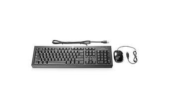 HP USB 基本型鍵盤與滑鼠 keyboard Black