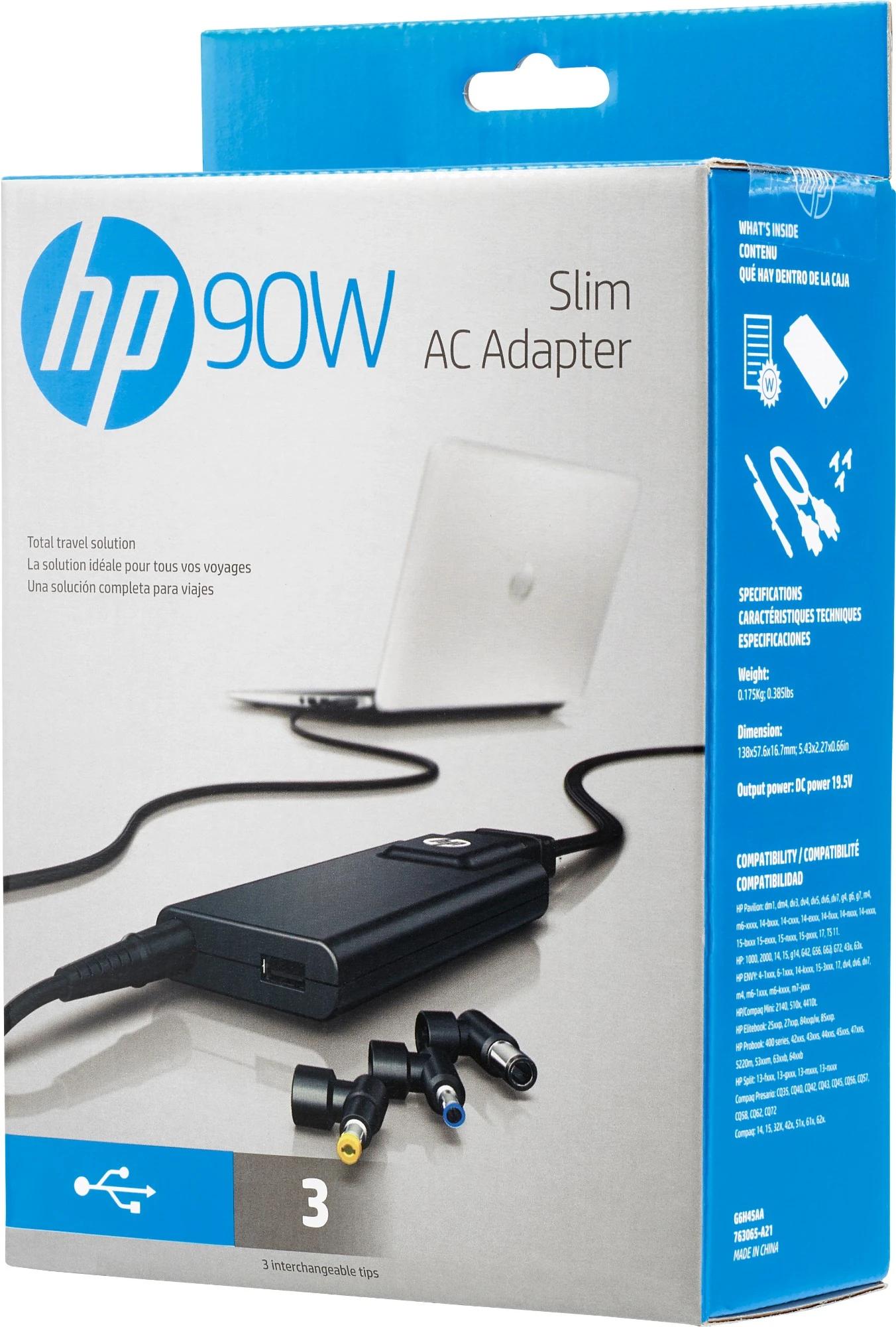 HP 90W Slim AC Adapter HP 90W Slim AC Adapter