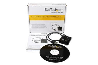StarTech.com USB Stereo Audio Adapter External Sound Card with SPDIF Digital