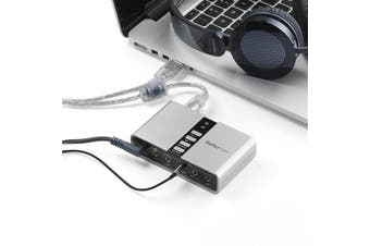 StarTech.com 7.1 USB Audio Adapter External Sound Card with SPDIF Digital Audio