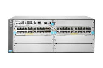 Hewlett Packard Enterprise 5406R 44GT PoE+ & 4-port SFP+ (No PSU) v3 zl2 Managed