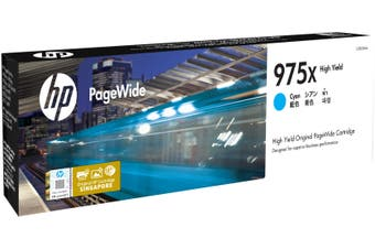New HP 975X Cyan Original PageWide Inkjet Cartridge