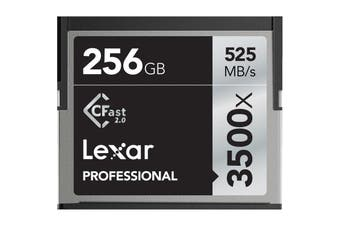 Lexar Professional 3500x 256GB Cfast 2.0 Card - Up to 525MBs Read/445Mbs