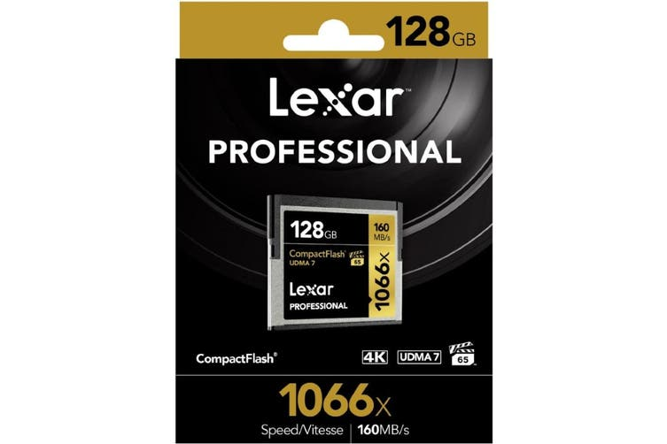 Lexar Professional 1066x 128GB Compact Flash Card - Up to 160MBs Read/155Mbs
