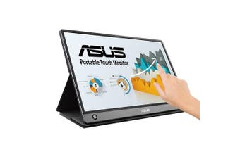 "ASUS MB16AMT touch screen monitor 39.6 cm (15.6"") 1920 x 1080 pixels Gray"